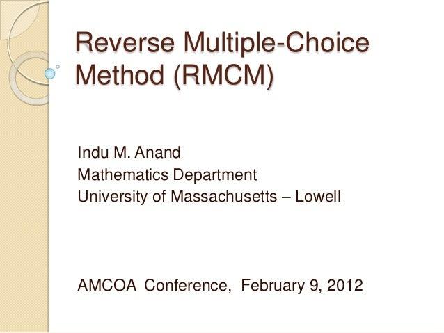Reverse+multiple choice+method--presentation 6-feb12