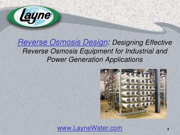 Reverse Osmosis Design: Industrial Reverse Osmosis Equipment
