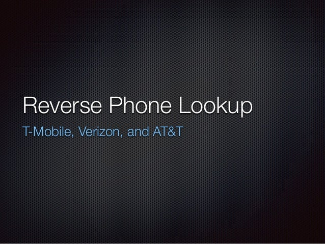 Att reverse cell phone lookup