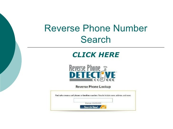 Backward Phone Number Search