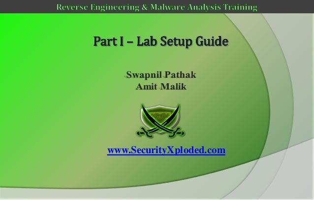 Reversing & malware analysis training part 1   lab setup guide
