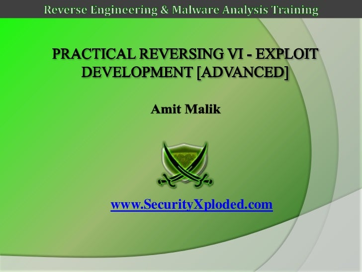 Reversing & Malware Analysis Training Part 11 - Exploit Development [Advanced]