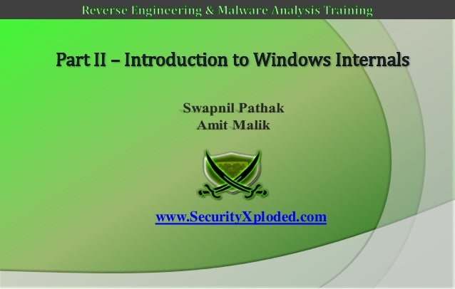 Reversing & malware analysis training part 2   introduction to windows internals