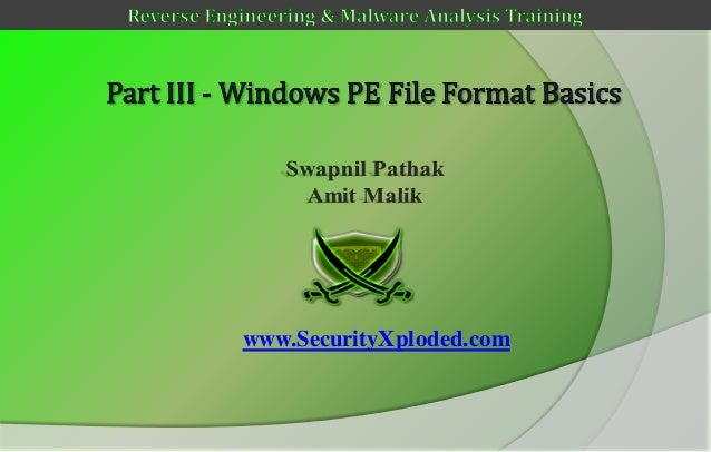 Reversing & malware analysis training part 3   windows pe file format basics
