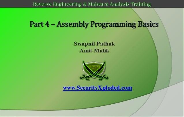 Reversing & malware analysis training part 4   assembly programming basics