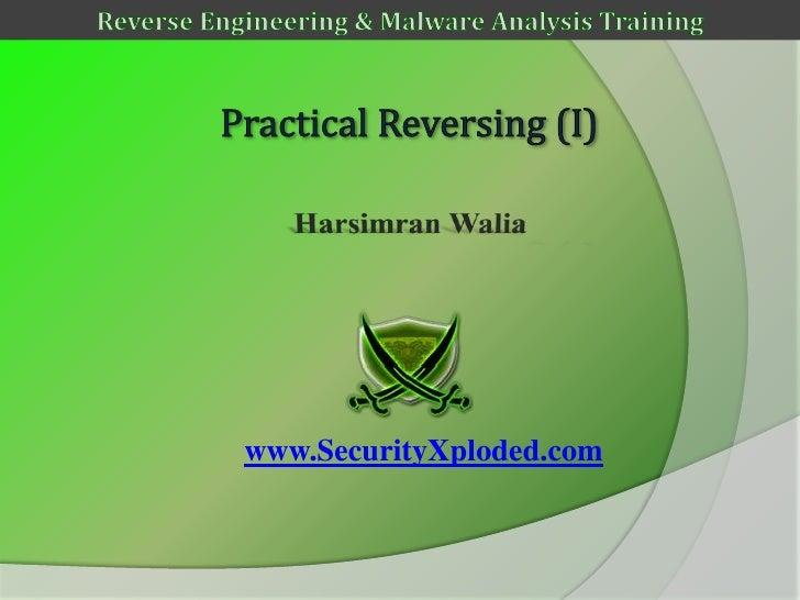 Reversing & Malware Analysis Training Part 6 -  Practical Reversing (I)
