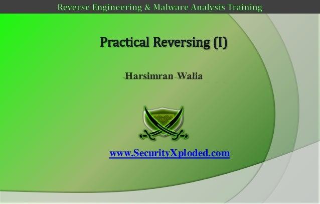 Reversing & malware analysis training part 6   practical reversing (i)