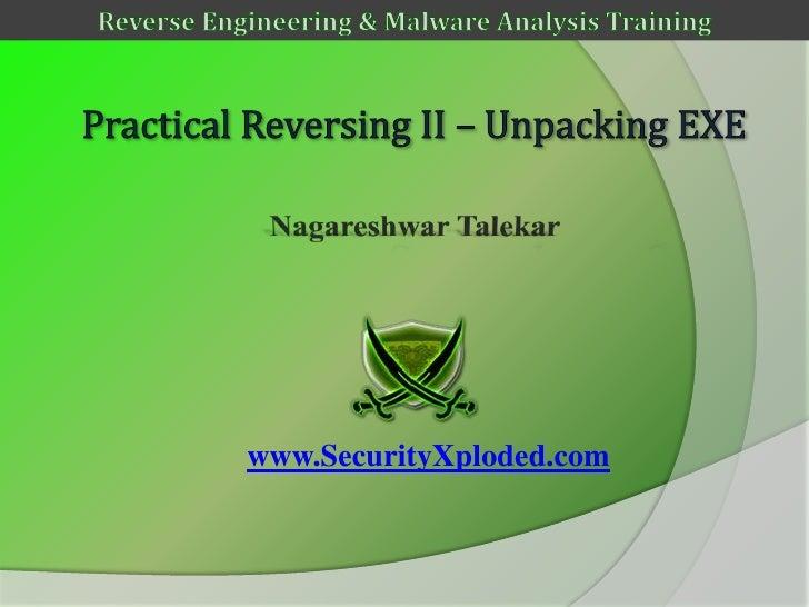 Reversing & Malware Analysis Training Part 7 - Unpacking UPX