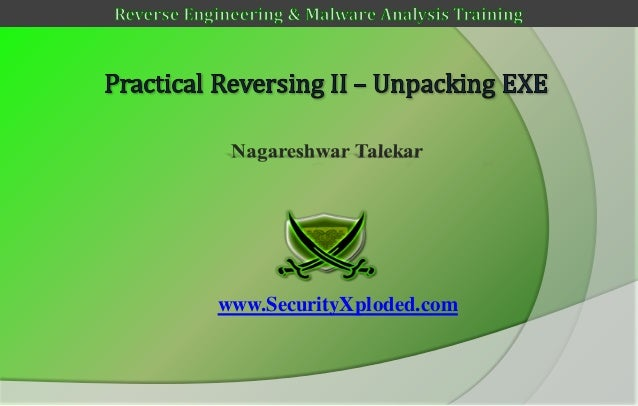 Reversing & malware analysis training part 7   unpacking upx