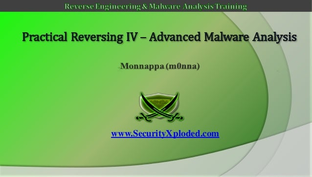 Reversing & malware analysis training part 9   advanced malware analysis