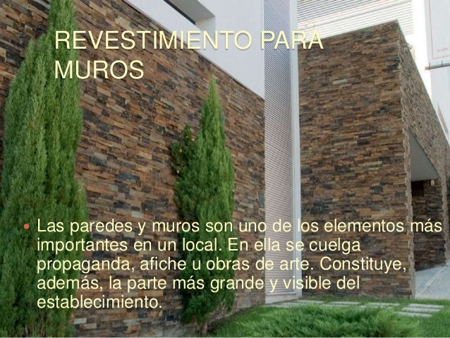 revestimiento de muros y pisos tipos clases y