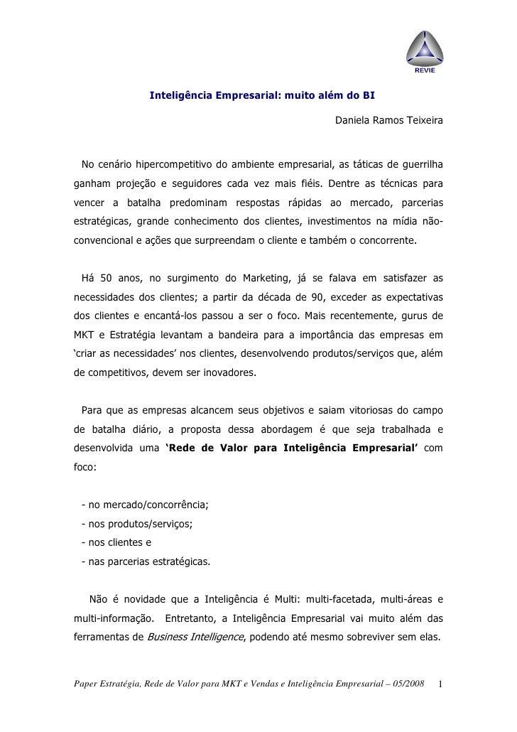Inteligência Empresarial: muito além do BI                                                                  Daniela Ramos ...