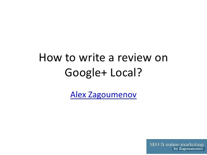Leaving a review on Google+ Local