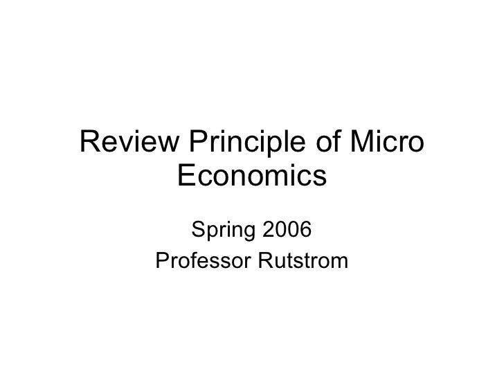 Review Principle Of Micro Economics 1