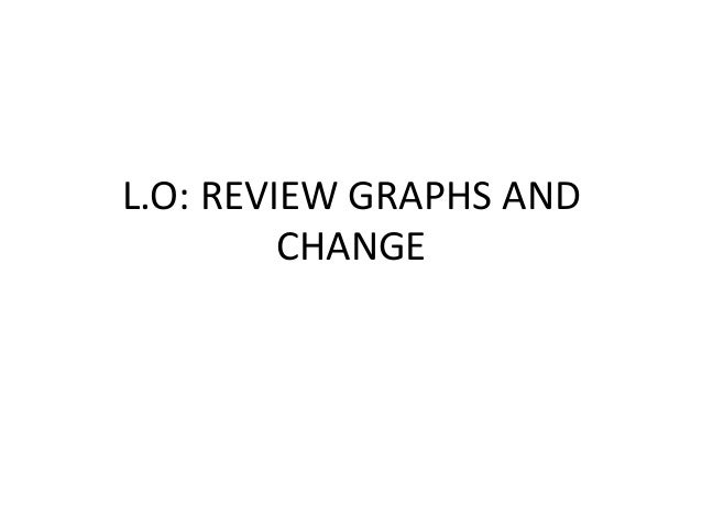 L.O: REVIEW GRAPHS ANDCHANGE