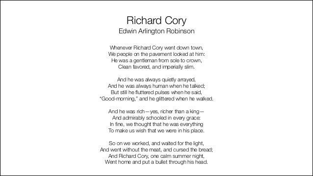 Edgar Lee Masters richard cory