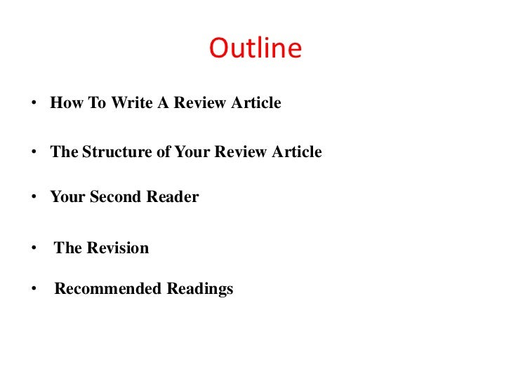 How to write review article