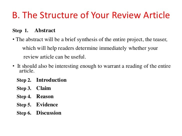Review of an article