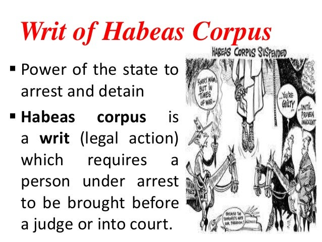 habeas corpus and the war on