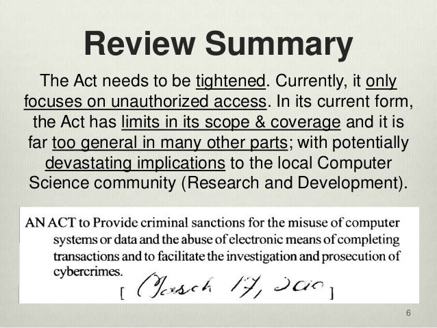 cybercrime law 2 essay Cyber crimes precaution and prevention information technology essay 132 awareness and law reforms cyber crime cannot be checked unless it is made an.