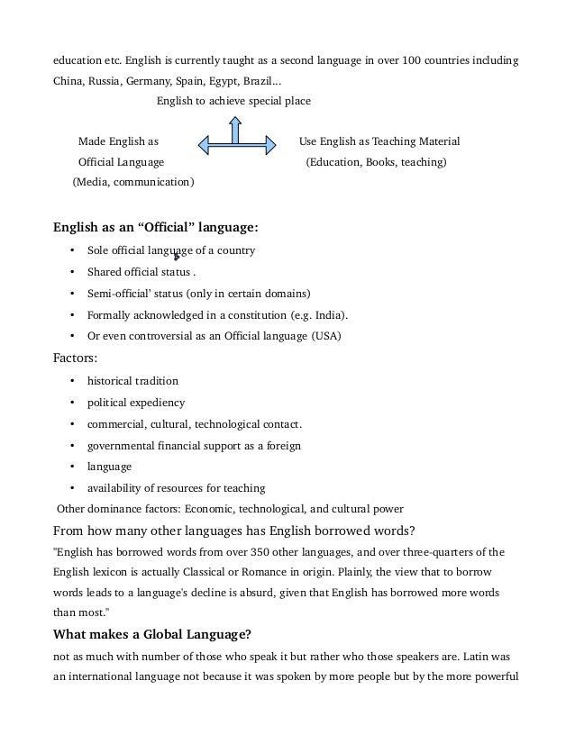 Argumentative Essay English Language