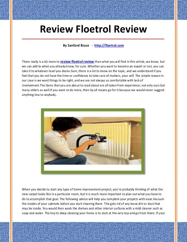 Review floetrol review