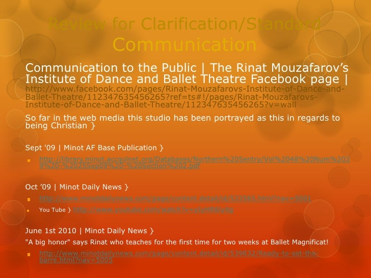 Review for clarification - a Facebook page study