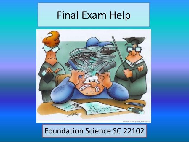 Final Exam Help