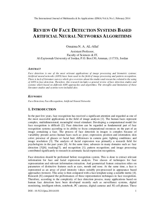 Review of face detection systems based artificial neural networks algorithms