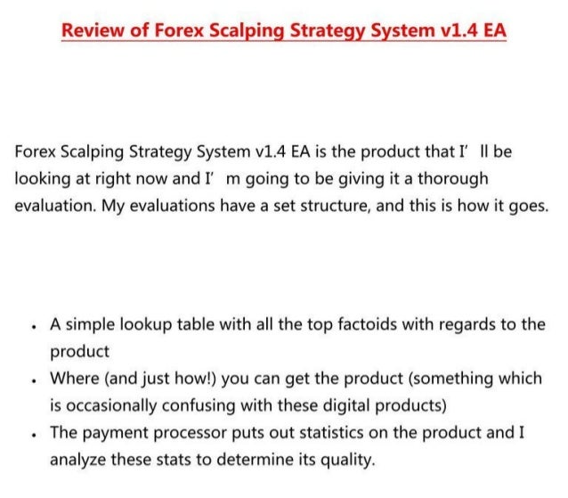 Forex scalping strategy system v1.4 ea new