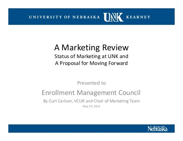 Review of marketing at u of nebr. kearney 2005 2011