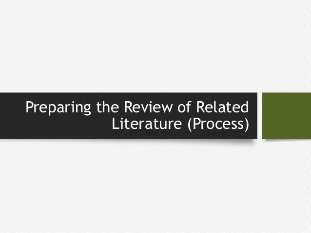 related literature in term paper What is a literature review a literature review is a critical analysis of published sources, or literature, on a particular topic stanke c, murray what is review of related literature in term paper v, amlôt r, nurse j, williams r.