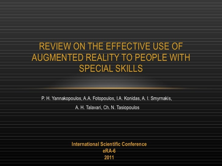 Review on the effective use of augmented reality last