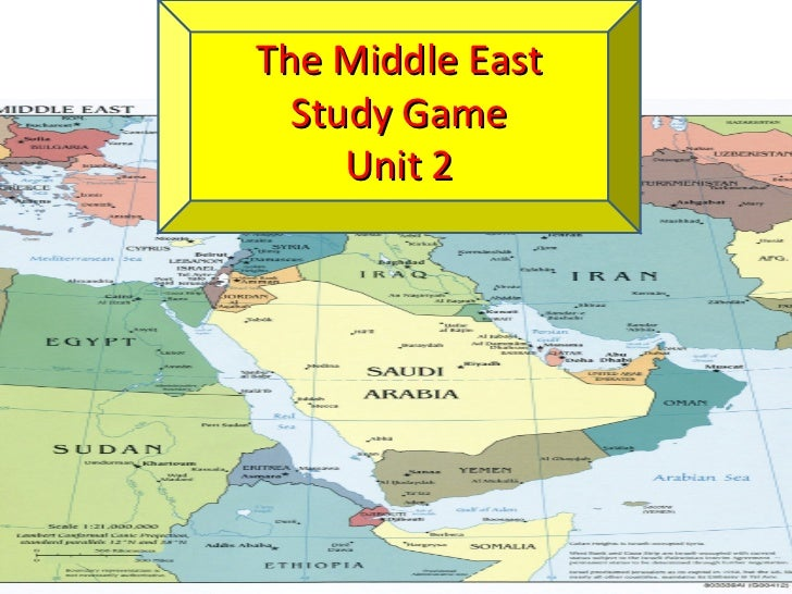 The Middle East  Study Game     Unit 2