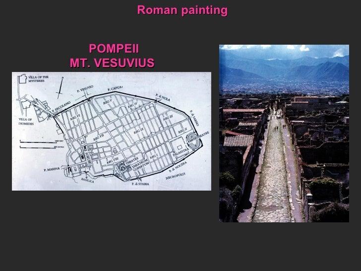 POMPEII MT. VESUVIUS Roman painting