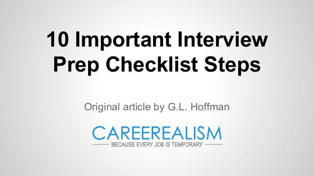 Review sheet  10 Important Interview Prep Checklist Steps