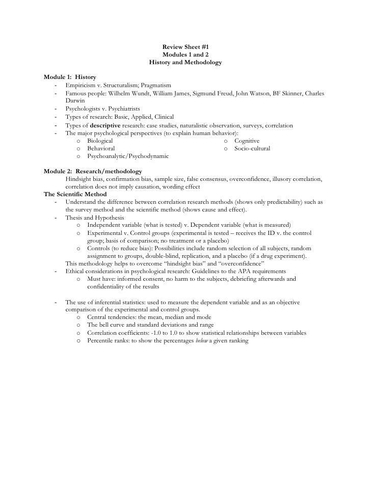 Review sheet  1