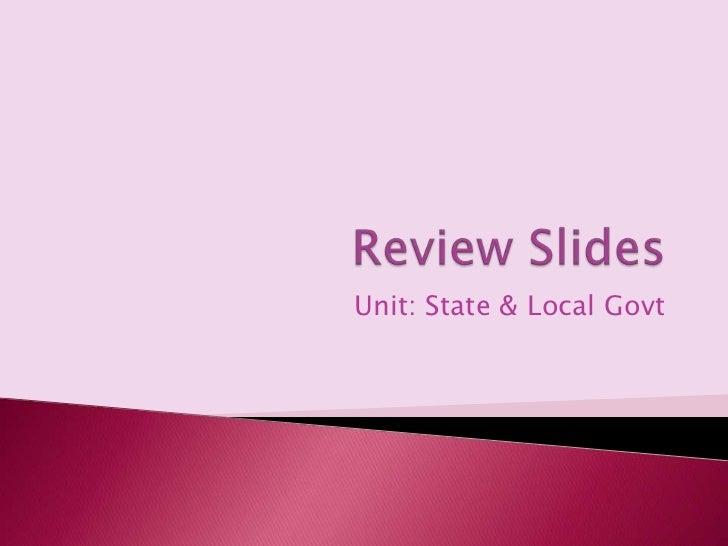 Unit: State & Local Govt