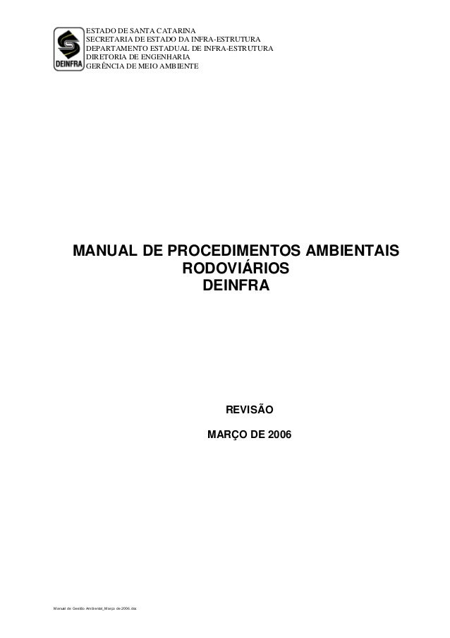 Revisao norma ambiental