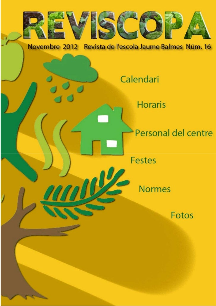 Reviscopa Núm.16 - Revista Escola Jaume Balmes