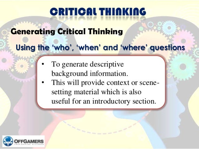 critical thinking legal case Analogy involves an earlier decision being followed in a later case because the   legal reasoning differs in a number of ways from the sort of.