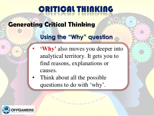 critical thinking business case studies The case method is a participatory, discussion-based way of learning where students gain skills in critical thinking, communication, and group dynamics it is a type of problem-based learning often seen in the professional schools of medicine, law, and business, the case method is now used successfully in disciplines such.
