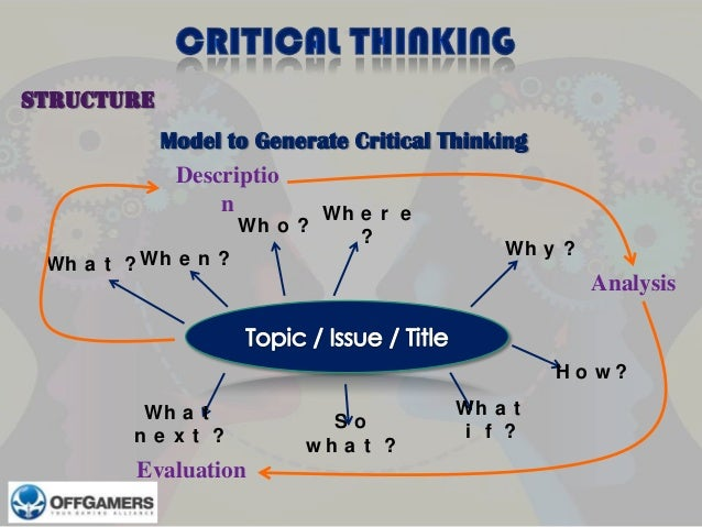 Our conception of critical thinking is based on the substantive approach  developed by Dr  Richard Paul and his colleagues at the Center and  Foundation for