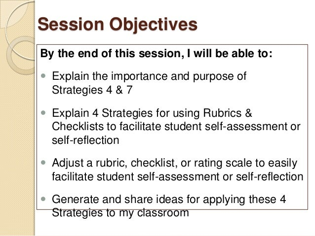 self assessment and reflection