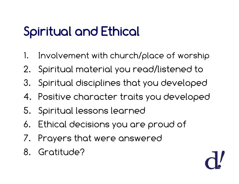 Spiritual Character Traits Positive Character Traits You