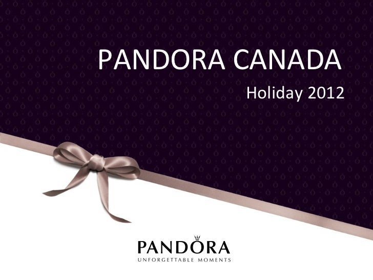 PANDORA Gift Guide (Canada)