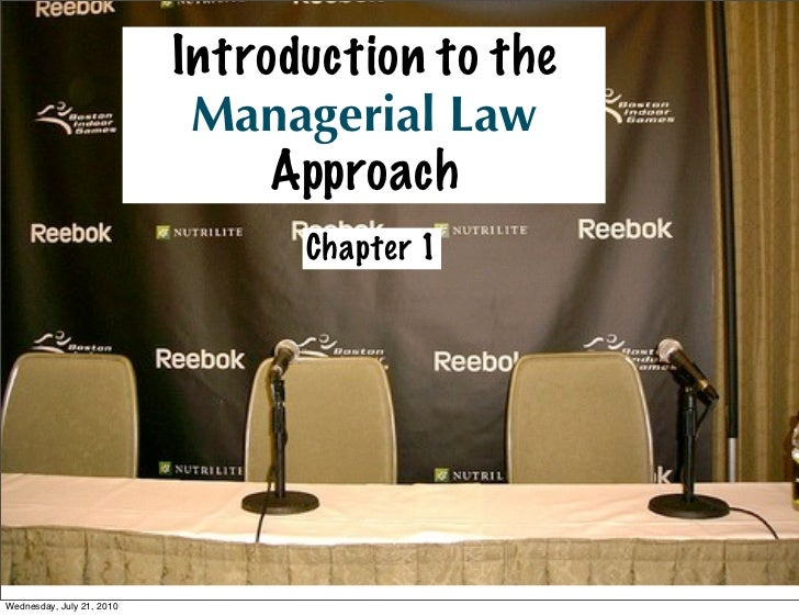 Introduction to the                             Managerial Law                                 Approach                   ...