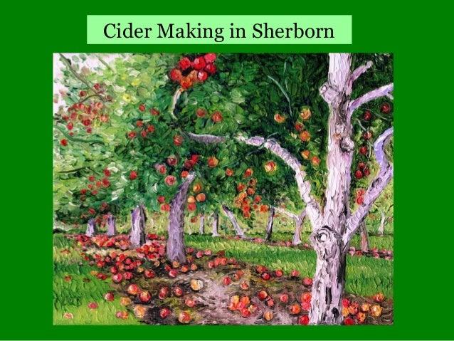 Revised cider making in sherborn