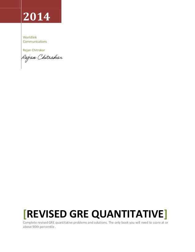 Revised gre quantitative complete!!!