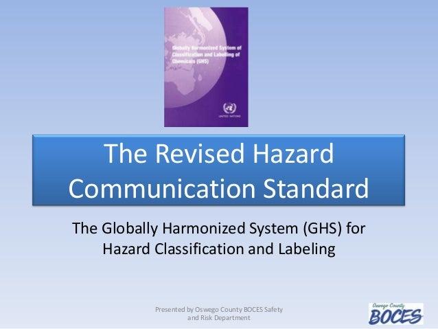 Revised hazard communication standard